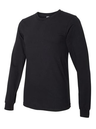 American Apparel Globally Made Adult Unisex 4.3 Ounce Fine Jersey Long Sleeve T-Shirt