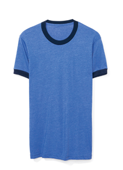 American Apparel Globally Made Adult 3.6 Ounce Poly/Cotton Ringer T-Shirt