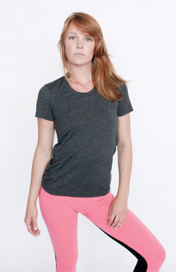 American Apparel Globally Made Ladies' 3.7 Ounce Short Sleeve Track T-Shirt