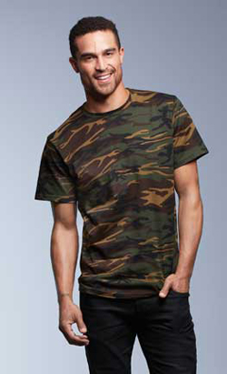 Anvil® Adult 4.9 Ounce Midweight Camouflage T-Shirt