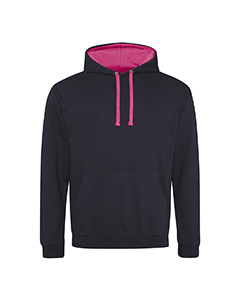 AWDis Adult Contrast Hooded Pullover