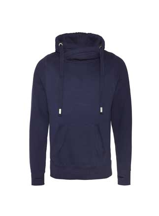 Just Hoods Adult Cross Neck Hoody.