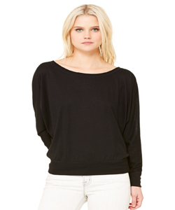 Bella+Canvas Women's 3.7 Ounce Flowy Off-Shoulder Long Sleeve T-Shirt