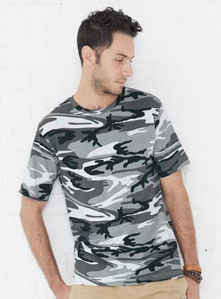 Code Five Adult 100% Combed Ringspun Cotton Camouflage Crew Neck Short Sleeve Tee