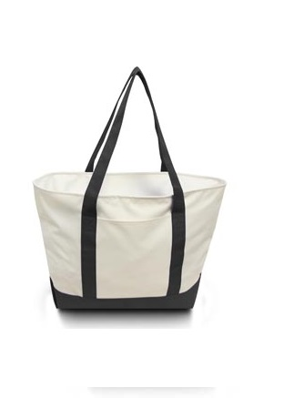 Liberty Bags 600 denier Bay View Zipper Boat Tote with Contrasting Handles