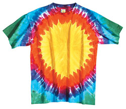 Sundog Adult 5.6 Ounce Teardrop Rainbow Short Sleeve T-shirt