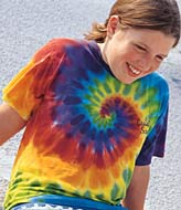 Sundog Youth 5.6 Ounce Short Sleeve Rainbow Swirl