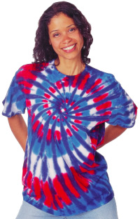Sundog Adult 5.6 Ounce New Glory Swirl Short Sleeve T-shirt