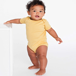 American Apparel Infant Unisex Organic Baby Rib Short Sleeve One-Piece Made Overseas.