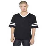American Apparel Unisex Poly-Cotton V-Neck Football Shirt.