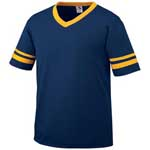 Augusta Adult 50/50 Poly/Cotton Stripe Sleeve Jersey
