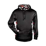 Badger Adult Camo Colorblock Hoody.