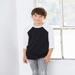 Bella+Canvas Youth 3.6 Ounce 3/4 Sleeve Baseball T-Shirt