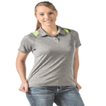 Dunbrooke Ladies 4.0 Ounce Mystic Heather Polo