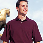 Jerzees® 50/50 5.6 Ounce Pre-Shrunk Pocketed Jersey Polo with Spotshield
