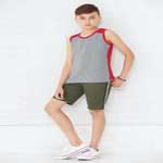 LAT™ Youth 100% Combed Ringspun Cotton Contrast Back Fine Jersey Tank.