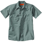 RedKap Men's 4.25 Ounce Industrial Short Sleeve Work Shirt
