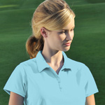 Willowtec Ladies 5.4 Ounce 100% Polyester Fashion Cool Mesh Golf Shirt