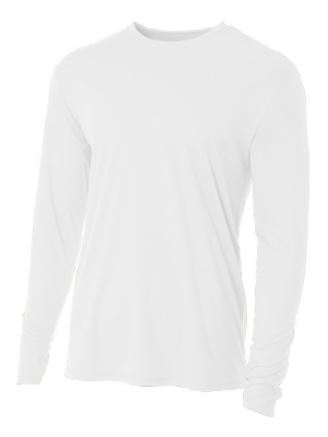 A4 Adult 4.0 Ounce Poly Cooling Performance Long Sleeve T-Shirt