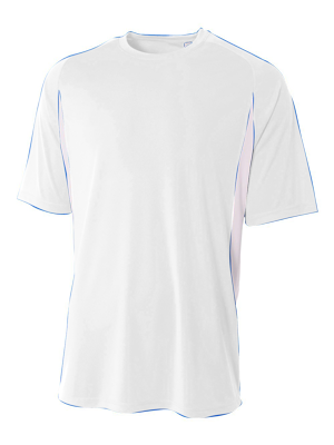 A4 Youth Cooling Performance Color Block Short Sleeve Crew Tee