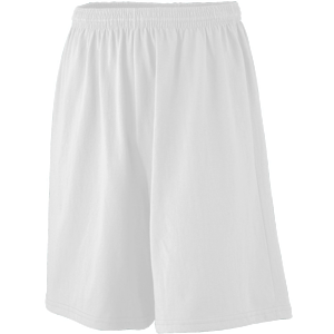 Augusta Youth Longer-Length 50/50 Cotton/Poly Jersey Short